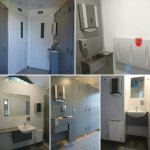 Newly renovated toilet and shower block