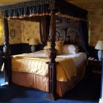 The four poster bed in our room