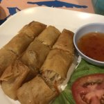 Spring rolls with chicken and glass noodles