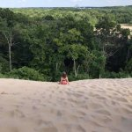 A view from the top of the main dune.