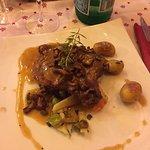 Côte de Veau aux girolles et petits légunes (grillée aufeu de bois)