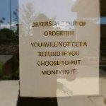 no laundry facilities