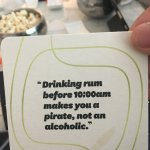Funny quotes on our coasters at the bar