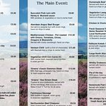 Our Current Menu also daily specials board