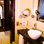 Separate Shower and Bathroom with a Hair Dryer, Weighing Scale, Shaving mirror