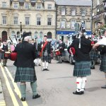 Our Local Highland Pipe Band playing outside the pub