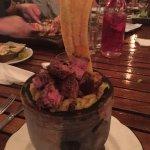 Mofongo with steak