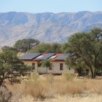 Sustainable tourism: almost all the rooms at the Namib Desert Lodge have solar panels.