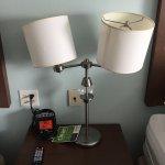 Broken bedside lamp