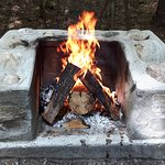 All campsites have small fireplaces such as this one