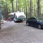 Site 188, nicely tucked into the woods and appropriate for most RV's
