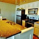 Spacious kitchen & island.