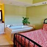 Master bedroom, jacuzzi & vanity areas.