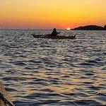 Solnedgång vid eggskär 30 min paddling fr kajaktiv tjörn