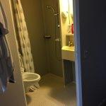 La sale de douche 1 mètres carrés pas digne d'un 3 étoiles