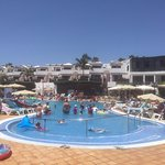 Main pool in the afternoon