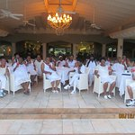 "This picture was our ""White-out"" Event and dinner"