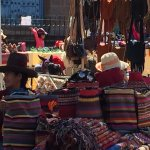 the Weekend market with authentic wares.