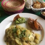 Pirey with Guacamole & Beans