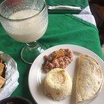 Quesadilla with Rice & Beans & Pinata