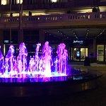 Multimedia fountain and main entrance