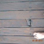 The broken floorboard...