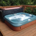 Kilcot Spa lodge outdoor spa
