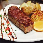 12oz Center Cut New York Strip with Momma's Lump Crab Cake