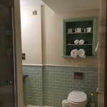 This is the view of the downstairs bathroom, you can just see the shower to the left.