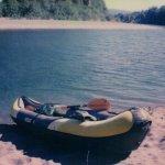 My kayak on the banks of the Chetco