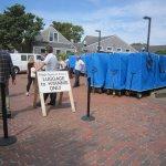 Luggage bins on Nantucket