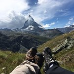 Off the hiking trail to take in the Matterhorn views