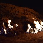 Yanar Dag at night view and with the blue fire is really awesome