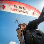 They sent me paragliding and I got the Balmers parachute!!