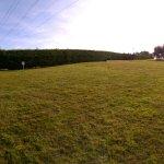 het grote campingveld op dat moment geheel leeg.