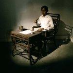 Realistic scene of Jose Rizal writing his memoir