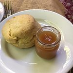 Warm biscuit with Apple Butter
