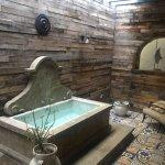 Outdoor shower/ bath area