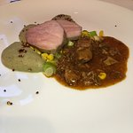 Saddle of veal and veal stew.