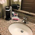 Sink w/ Keurig coffee maker