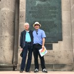Ronen with my husband in front of the Plaque of John Kennedy's memorial in Berlin