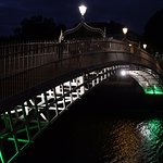 Ha'Penny Bridge was about a 10 minute walk.