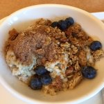 Steel Cut Oat Meal with Blueberries and Granola