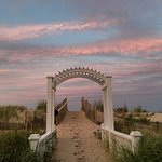 A beautiful August sky over our walk way to the beach.