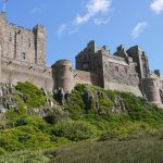 Bamburgh Castle, view from the pavement