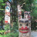 Totem's at the entrance