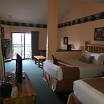 Pictures of the three queen loft suite