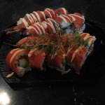 Volcano Roll and Red Dragon Roll