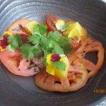 Déclinaison de tomates : en gelée, marinées et en sorbet