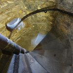 Steep stairs up the tower